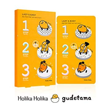 Патчи для носа Holika Holika Lazy&Easy Gudetama Pig-nose Clear Black Head