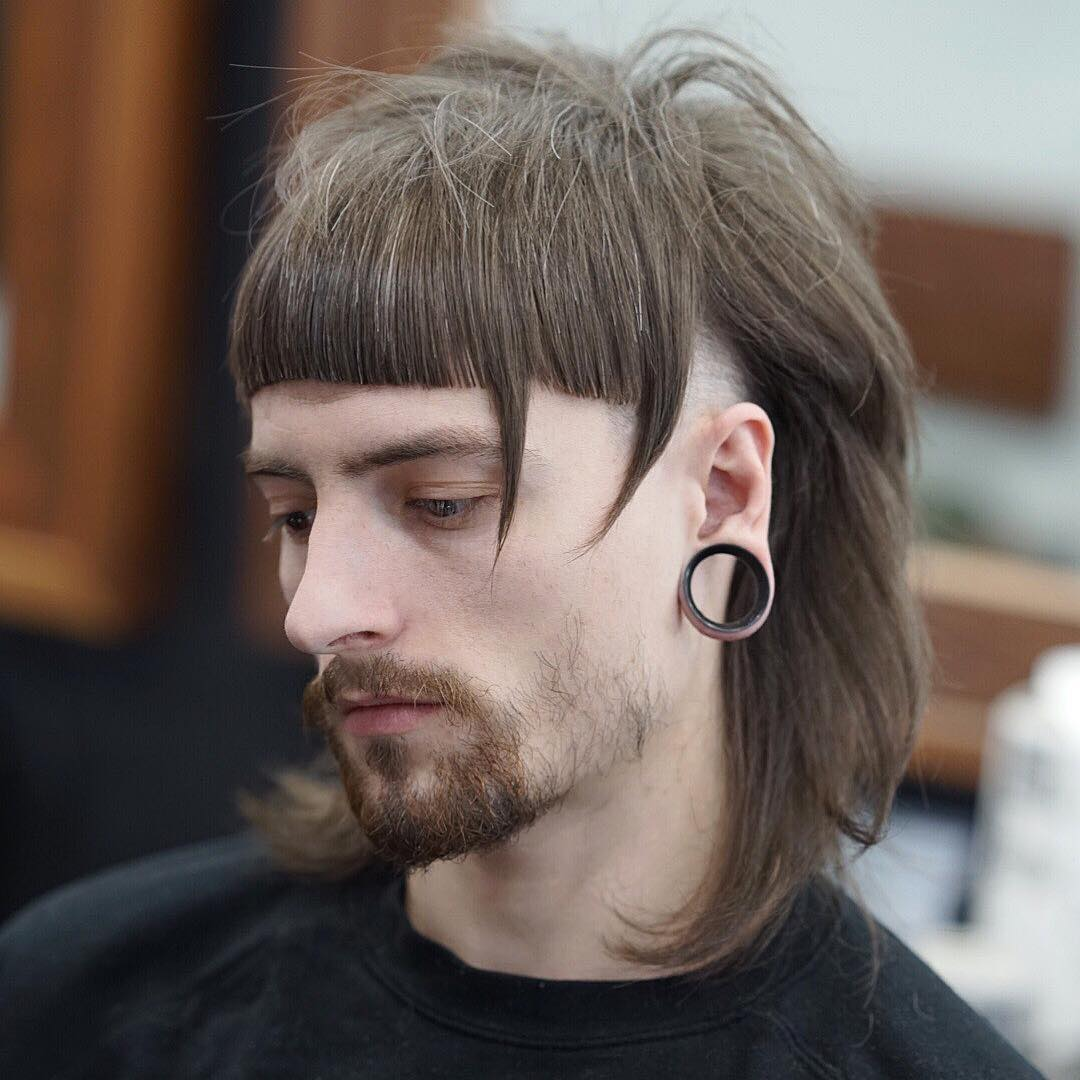 Long hair with shaved sides
